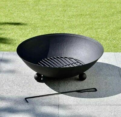 Fire Bowl Log Burner Wood Burner Outdoor Patio Heater Brazier for Garden BBQ