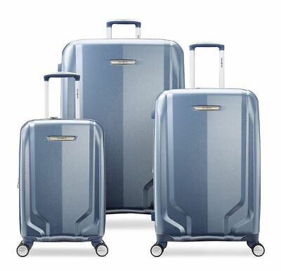 Samsonite Lite Lift DLX Hardside Spinner Luggage 3 Piece Set Blue Slate
