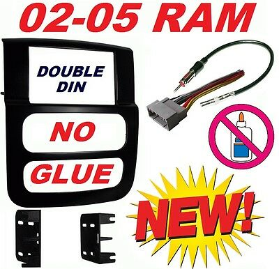 02 03 04 05 DODGE RAM CAR STEREO RADIO DOUBLE DIN INSTALLATION DASH