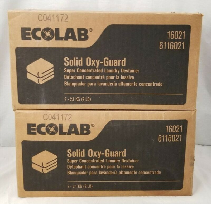 Ecolab 6116021 Solid Oxy-guard Super Concentrated Laundry Destainer New/Open Box