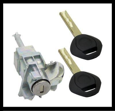 LEFT DRIVER DOOR LOCK CYLINDER BARREL ASSEMBLY 2 KEYS for BMW E46 3 SERIES 325