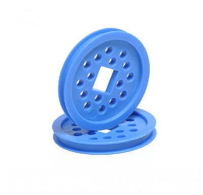 5pcs Plastic Sheave Belt Pulley 48mm Blue Timing Pulley 12mm Square Hole For Diy