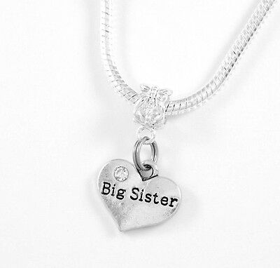 Big Sister Jewelry Big Sis Necklace Sisters Charm Sisters Gift Best Sisiter