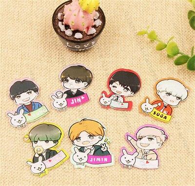 Kpop Bts Cute Adhensive Stickers For Phone Luggage Bangtan Boys Jimin Jung Kook