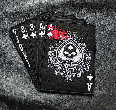 DEAD MAN'S HAND ACES TACTICAL COMBAT MILITARY MORALE ARMY HOOK PATCH BY MILTAC