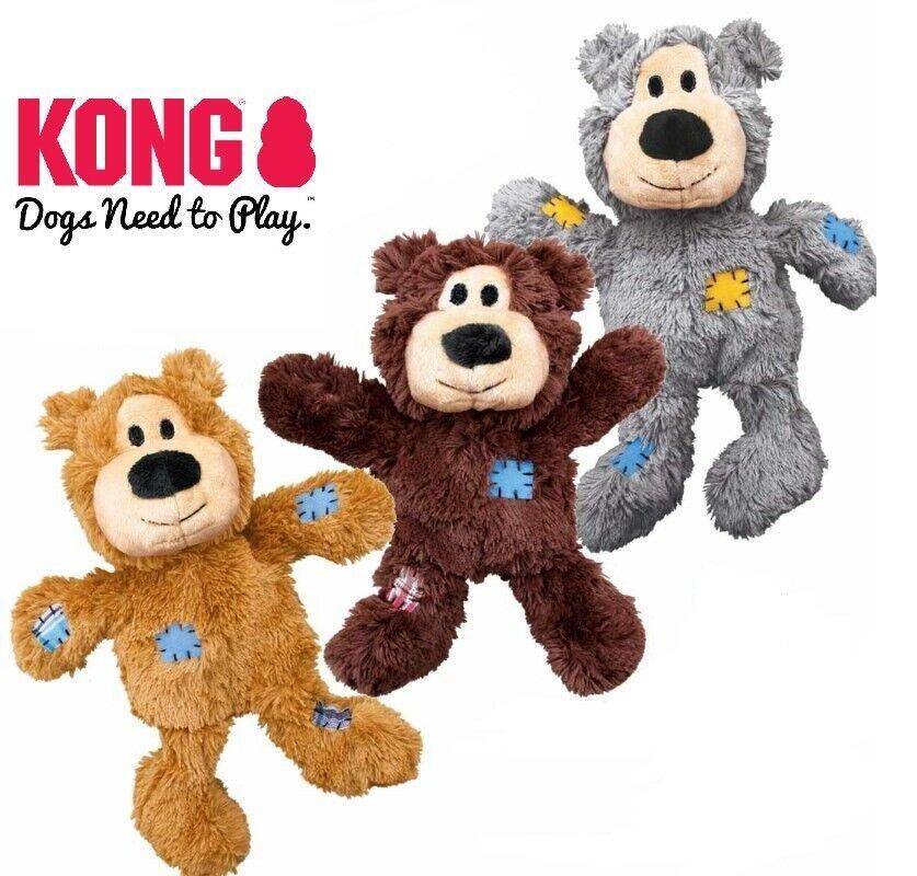 KONG Wild Knots Bears - Hundespielzeug Bär Plüschtier mit Seil Bärchen