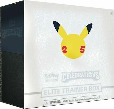 Pokemon Celebrations 25th Anniversary Elite Trainer Box SEALED SHIPS 10/08