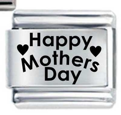 Happy Mothers Day Heart * Mum Family * Daisy Charm Fits Nomination Classic Size
