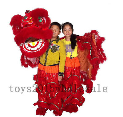 Mascot Costume For Kids (2019 Southern Lions For Two Kids Pur Lion Dance Mascot Costume Pure Wool)