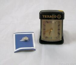 Vintage Texaco Branded Graceful Travel Alarm Clock - Boxed