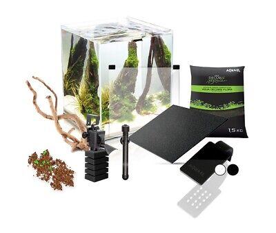 AQUAEL Aquarium SHRIMP SET 2 SEED komplett inkl.LED Beleuchtung, Filter, Heizer