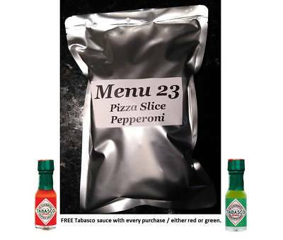 Menu 23 US Military Pepperoni Pizza MRE / FULL MEAL (NEW 2018)