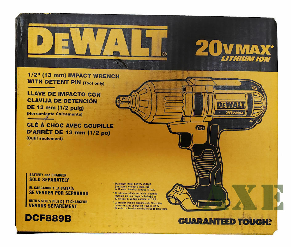 DEWALT New DCF889B 20 Volt Impact Wrench 1/2  High Torque wi