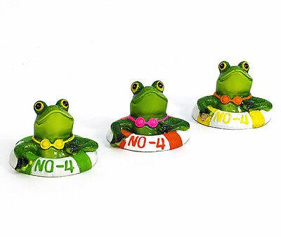 Schwimmtier Frosch im Reifen (926445) Gartendeko Deko schwimmend Schwimmtier