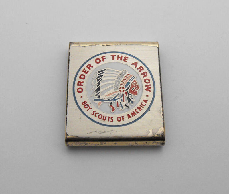 Vintage Boy Scouts of America Order of the Arrow Metal Clip Slide Collectible