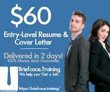 $60 RESUME + COVER LETTER WRITING SERVICE (Writer + Consultant) Sydney City Inner Sydney Preview