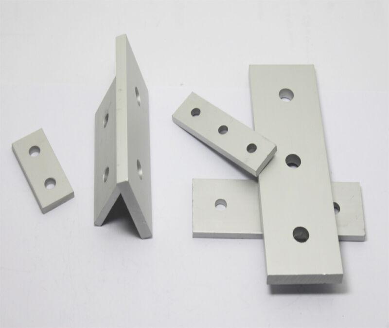 T-slot Straight Connector Flat Plate Aluminum 4040,2020,3030 Profile 2//3 Hole