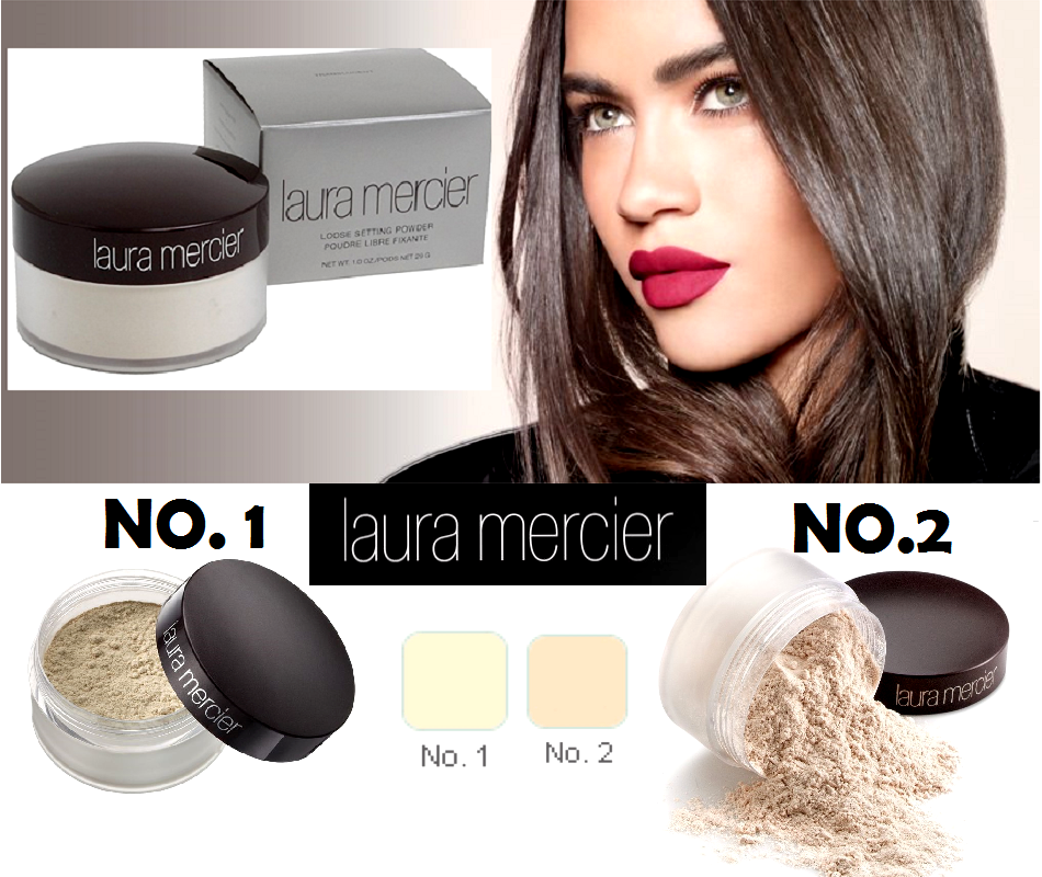 NIB Laura Mercier No.1 No.2  Loose Setting Face Powder Trans