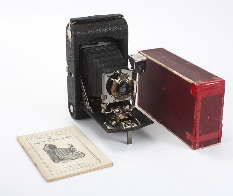 KODAK NO. 3 FOLDING POCKET MODEL H, BOXED/cks/196822
