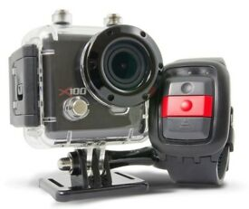Kaiser Baas X100 Action Camera and accessories. Like GoPro. Brand New in Box