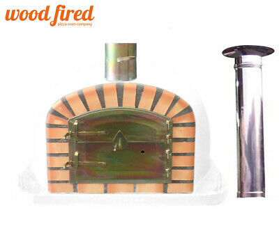 brick outdoor wood fired Pizza oven 100cm Deluxe extra with 100cm chimney & cap, used for sale  Chesterfield