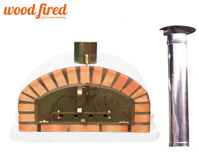 brick outdoor wood fired Pizza oven 100cm Italian model with chimney and raincap for sale  Chesterfield