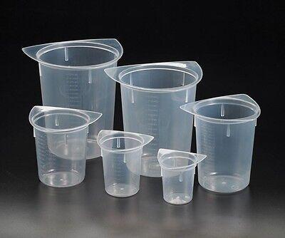 Tri-corner Plastic Beakers 50100250400800 1000ml Set Of 6