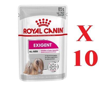 10 X Royal Canin Exigent comida húmeda para perros