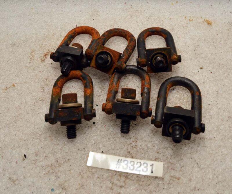 Lot of Six Jergens 3/8-16 Swivel Hoist Lifting Rings (Inv.33231)