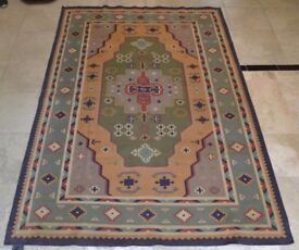 Hand Made Indian Cotton Durrie Carpet