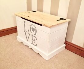 Handmade Country Chic Pine LOVE Ottoman-FREE DELIVERY