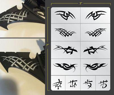 Evil Elven Tribal Airbrush Stencil Texture Patern Schablonen Maskierung Gestaltu
