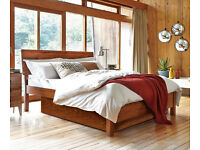 Warren Evans 'Siesta' Double Bed, with fitted under-bed storage, and hypnia pocket sprung mattress