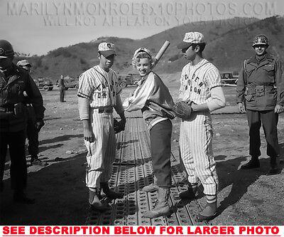Marilyn Monroe Learning To Baseball  1  Rare 5X7 Photo