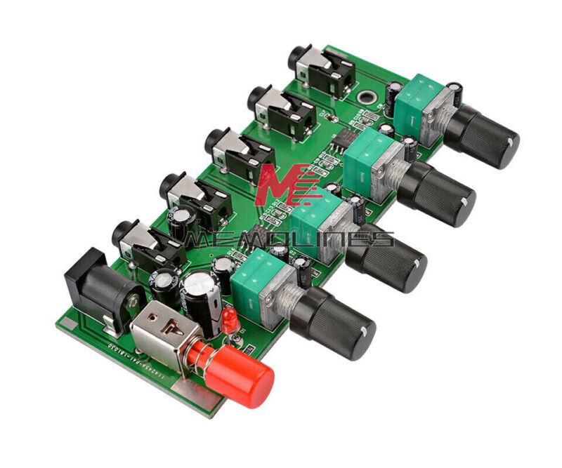 Dc5v-12v Stereo Audio Signal Mixer Board Mix 2way 4way Input 1way Output