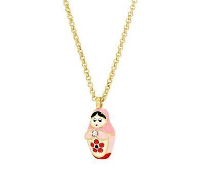 Kate Spade New York Ooh La La Dollface Pink Doll Mini Pendant Necklace