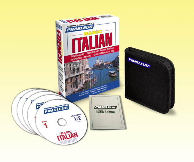 NEW 5 CD Pimsleur Learn to Speak Basic Italian Language