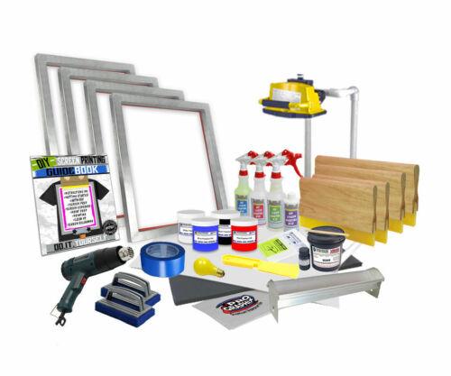 DIY 4 Color Supply Kit Screen Printing Starter Beginner Kit - code:pink