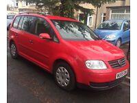 Red Volkswagen Touran 7 Seater