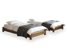 Warren Evans sleep over beds – with two mattresses