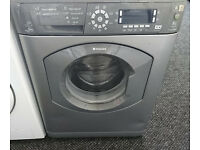 c171 graphite hotpoint 8kg 1400 spin washing machine comes with warranty can be delivered or collect