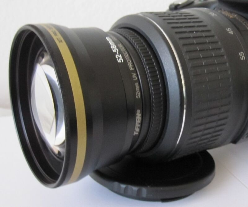 2x Telephoto Zoom Lens For Sony A230 A390 A100 A700 A900 A300 A330 A350 A65 r