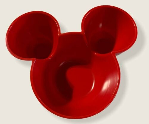 Disney Mickey head and ears red bowl (Used)
