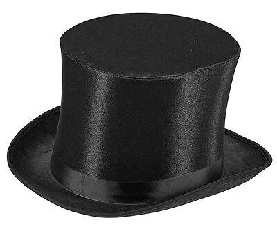 Zylinder in Satinoptik NEU - Karneval Fasching Hut Mütze Kopfbedeckung