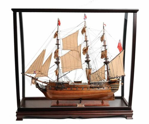 "HMS Surprise Tall Ship Model 37"" Master & Commander w/ Table Top Display Case"