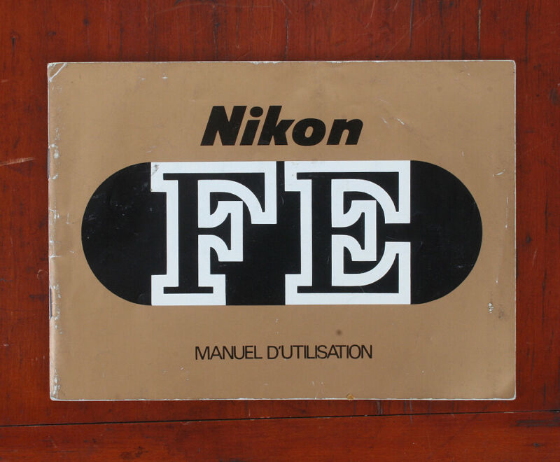 NIKON FE INSTRUCTION MANUAL IN FRENCH/174931