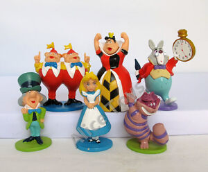 Alice in Wonderland Figure Figurines 5-7cm Toy Gift Set of 6pcs UK