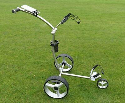 Golftrolley Edelstahl Yorrx® SL Pro 4S *PLUS* - Edelstahl Golfwagen + Vulcan7