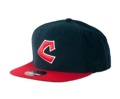 American Needle Wool Hat - Cleveland Indians American Needle Wool MLB Adjustable Flat Brim Snapback Hat