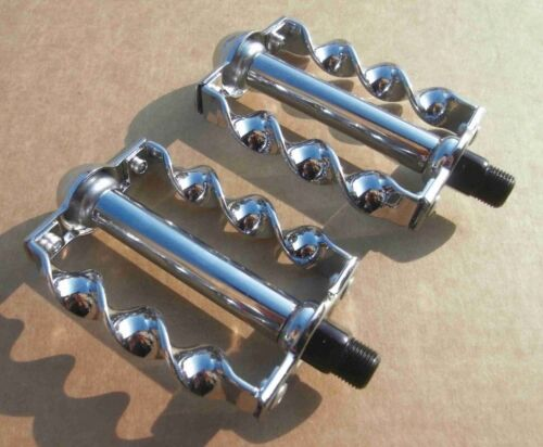 "Bicycle Twisted Pedals 1/2"" Chrome Chopper  Beach Cruiser Lo"
